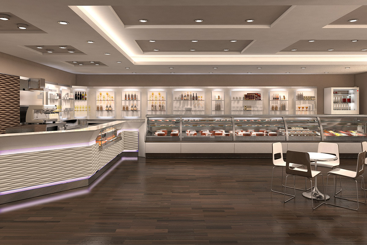 Arredamento bar ab arredamenti negozi tivoli for Elementi arredo