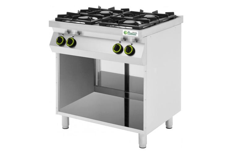 Cucina a gas 4 fuochi su vano a giorno offerta ab arredamenti negozi - Cucina a gas in offerta ...