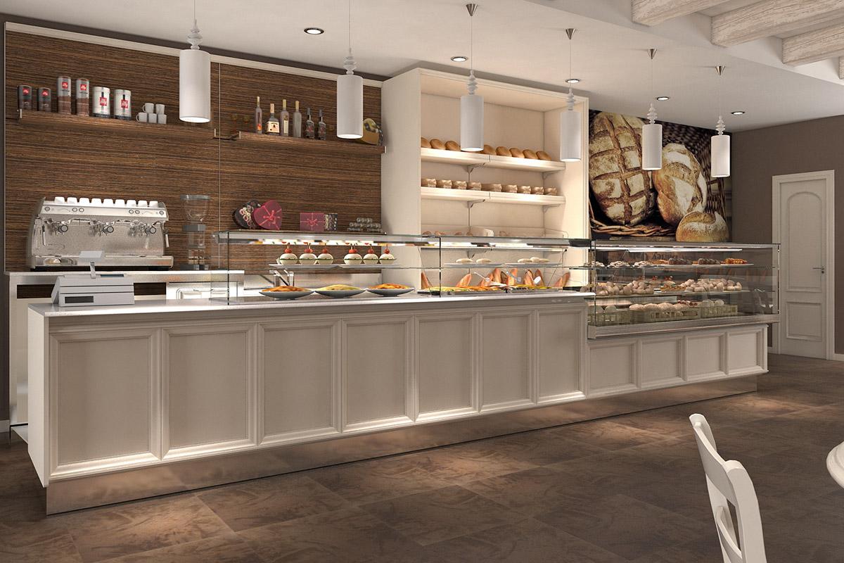 Arredamento panetterie e pizzerie ab arredamenti negozi for Arredamento panetteria