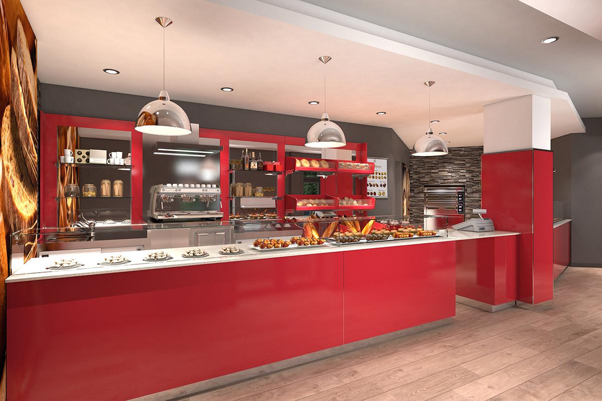 Arredamento panetterie e pizzerie ab arredamenti negozi for Pizzeria arredamento